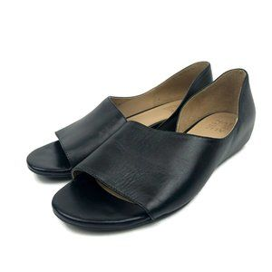 Naturalizer Lucie Open Toe Black Genuine Leather